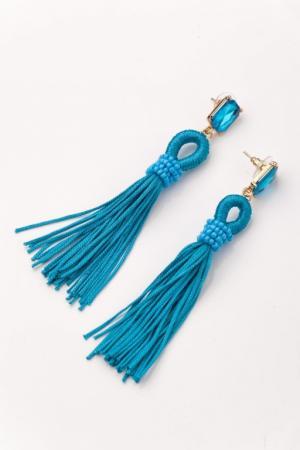 Серьги «КИСТИ» голубой AS 0159