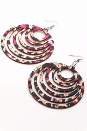 Серьги «ФЛОР» лиловый AS 0217 жен крупногабаритные прочее стразы серьги слезки секси крупногабаритные мода серебряный лиловый розовый волны серьги назначение