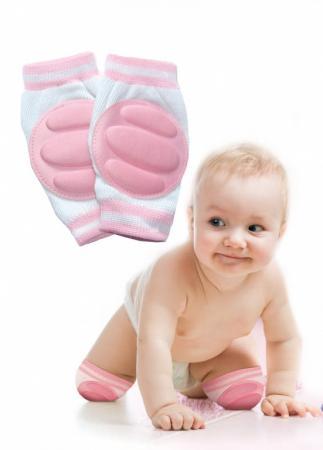 Наколенники детские для ползания розовые DE 0136