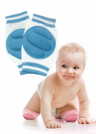 Наколенники детские для ползания голубые DE 0135