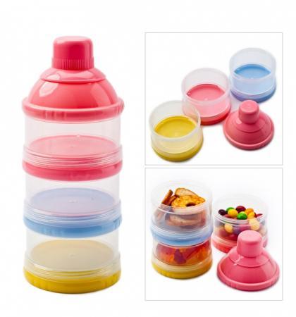 Трехслойный контейнер для пищевых сыпучих продуктов DE 0210 контейнер для двух бутылочек мир детства пчелки трехслойный цвет белый салатовый
