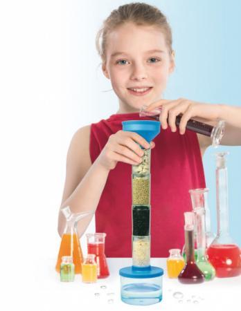 Набор для проведения опытов по очистке воды «ЮНЫЙ УЧЁНЫЙ» DE 0120 научные развлечения набор для опытов юный физик электричество