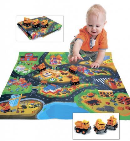 Коврик развивающий «СТРОЙКА В ГОРОДЕ» DE 0156 развивающий коврик biba toys happy garden 100 100 см gd053