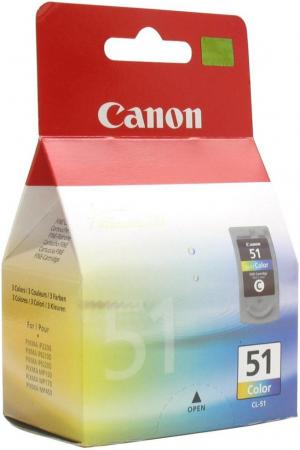 Картридж Canon CL-51 для Pixma MP160 170 180 450 460 iP2200 6210D 6220D цветной картридж canon cl 51 0618b001 для canon mp450 150 170 ip6220d 6210d 2200 цветной