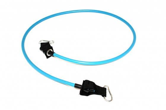 Эспандер трубчатый с карабинами, нагрузка до 11 кг, синий SF 0229