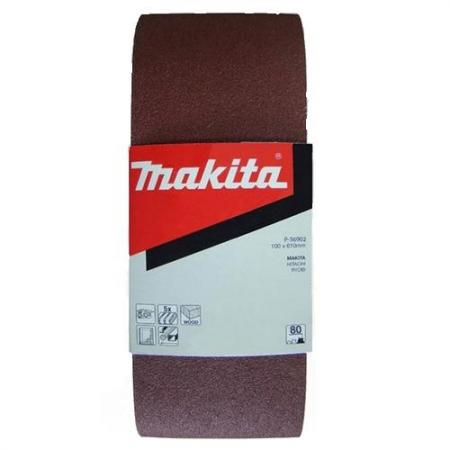 Лента шлифовальная MAKITA P-36918 100 X 610мм, K100, 5шт. шлифовальная бумага makita p 35863