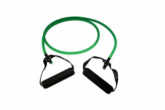 Эспандер трубчатый с ручками, нагрузка до 11 кг, зеленый SF 0234 эспандер лента нагрузка до 7 кг sf 0261