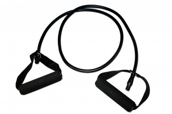 Эспандер трубчатый с ручками, нагрузка до 13,5 кг, черный SF 0235 эспандеры bradex эспандер трубчатый с карабинами нагрузка до 11 кг синий