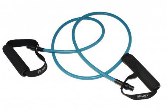 Эспандер трубчатый с ручками, нагрузка до 9 кг, синий SF 0233 эспандер лента нагрузка до 7 кг sf 0261