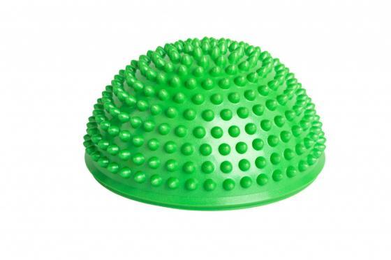 Полусфера балансировочная массажная, зеленая SF 0245