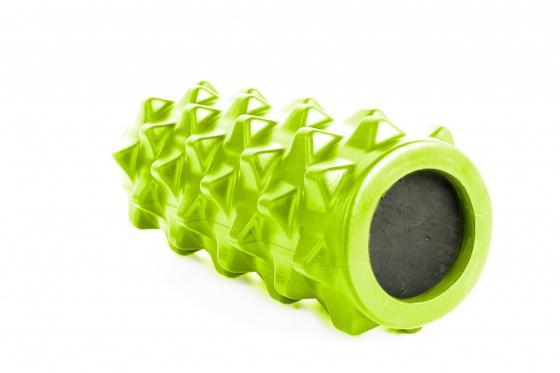 Валик для фитнеса массажный, зеленый SF 0247 все для фитнеса