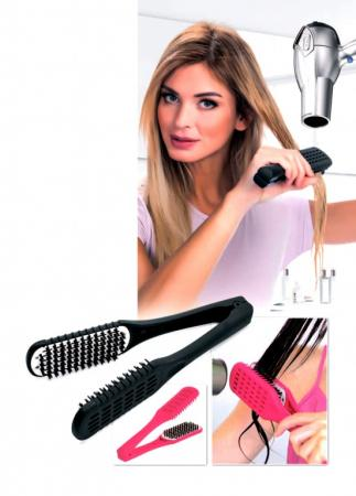 Расческа для выпрямления волос феном «ШЕЛКОВЫЕ ПРЯДИ» черная KZ 0375 цена