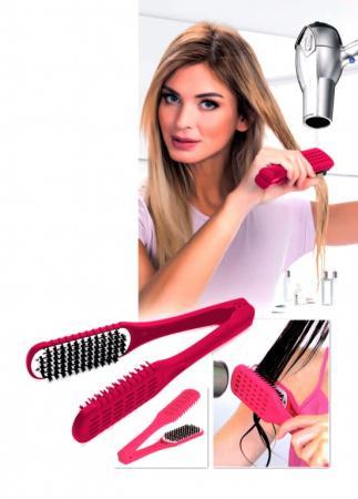 Расческа для выпрямления волос феном «ШЕЛКОВЫЕ ПРЯДИ» малиновая KZ 0376 цена