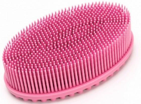 Щетка массажная для тела «АКТИНИЯ» нежно-розовая KZ 0459 щетка массажная для тела bradex актиния сиреневый