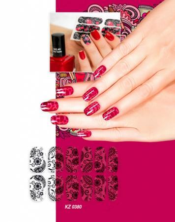 Арт-пленка для дизайна ногтей «КРУЖЕВО» KZ 0380 leds c4 suite 05 0380 bw b8
