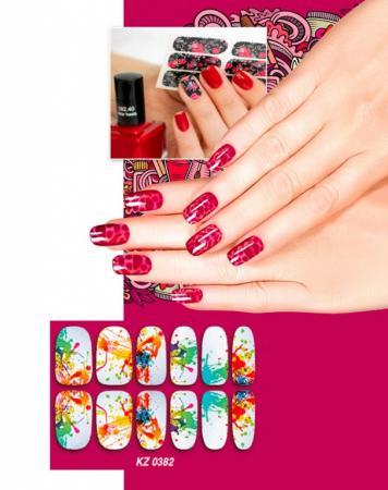 Арт-пленка для дизайна ногтей «АКВАРЕЛЬ» KZ 0382 пленка
