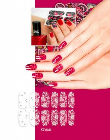 Арт-пленка для дизайна ногтей «ИЗМОРОЗЬ» KZ 0383 арт пленка для дизайна ногтей шотландка kz 0381