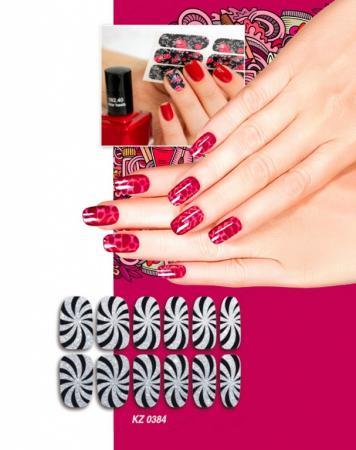 Арт-пленка для дизайна ногтей «ГИПНОЗ» KZ 0384 арт пленка для дизайна ногтей шотландка kz 0381