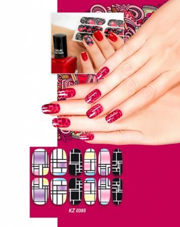 Арт-пленка для дизайна ногтей «АВАНГАРД» KZ 0385 арт пленка для дизайна ногтей шотландка kz 0381