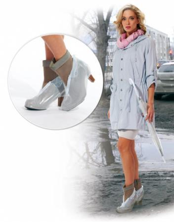 Чехлы грязезащитные для женской обуви на каблуках, размер L KZ 0324
