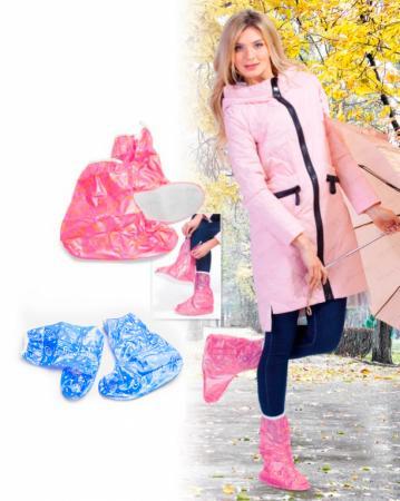 Чехлы грязезащитные для женской обуви - сапожки, размер M, цвет розовый KZ 0337 аксессуар чехлы грязезащитные для женской обуви bradex р l kz 0324