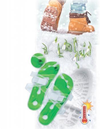 Грелка солевая саморазогревающаяся - стелька - 2шт KZ 0363 грелка солеваямишка цвет зеленый