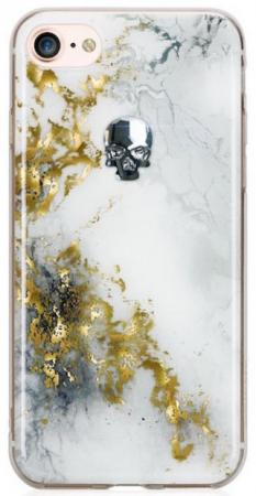 Накладка Bling My Thing Treasure Alabaster: Silver Night Skull для iPhone 7 iPhone 8 белый ip8-tr-wh-svn women sequin backpack mochila lentejuelas teenager girl school bags bling bling lady backpacks bolsa feminina sac a main femme