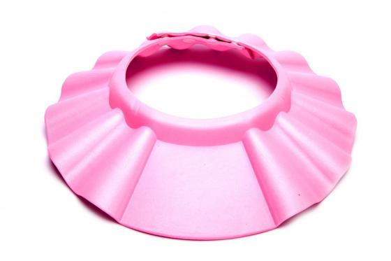 Шапочка - козырёк для мытья головы детская «КУПАЕМСЯ БЕЗ СЛЁЗ» розовый DE 0123