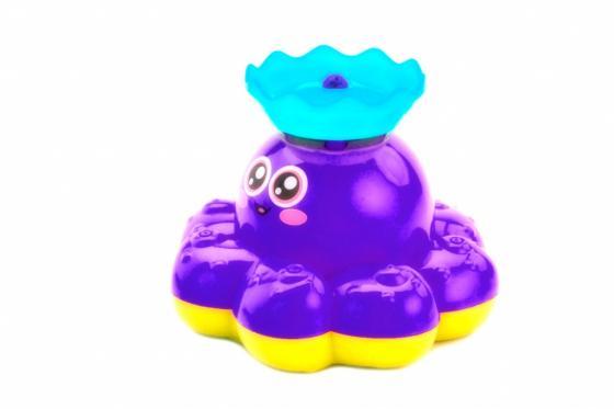 Игрушка детская для ванны «ФОНТАН-ОСЬМИНОЖКА» фиолетовый DE 0249 bradex каталка детская вихрь фиолетовый