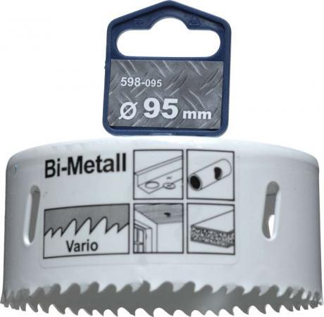 Коронка биметаллическая KWB 598-095 коронка hss bi-metall 95мм