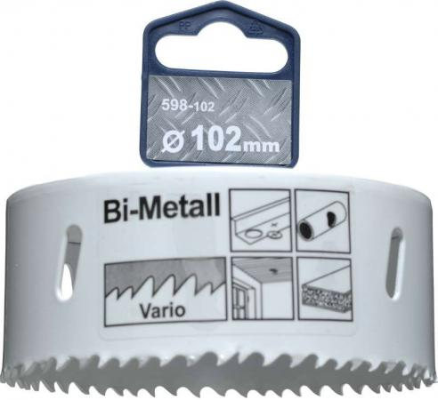 Коронка биметаллическая KWB 598-102 коронка hss bi-metall 102мм коронка биметаллическая kwb 598 060