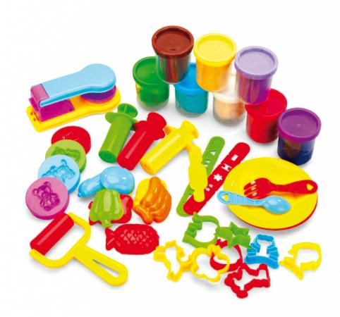 Набор пластилина с формочками «КРЕАТИВНЫЙ ПЛАСТИЛИН» DE 0124 набор пластилина с формочками креативный пластилин