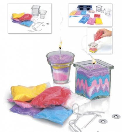 Набор для творчества «СВЕЧКИ СВОИМИ РУКАМИ» модель для изготовления 2х видов свечей набор свечей для торта классика 24 шт 6см с держателями