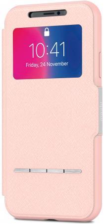 "Чехол-книжка Moshi ""SenseCover"" для iPhone X розовый 99MO072309"