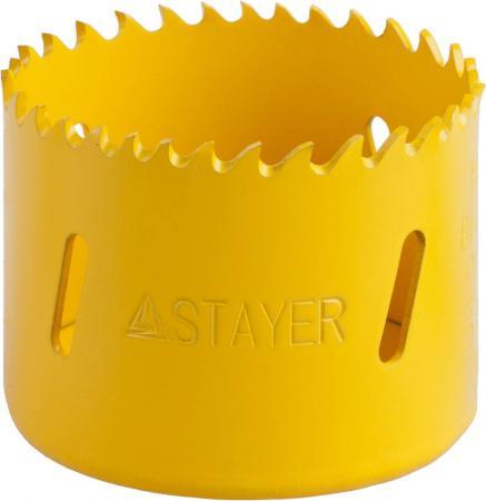 Коронка биметаллическая STAYER PROFESSIONAL 29547-057 d57мм коронка биметаллическая stayer professional 29547 102