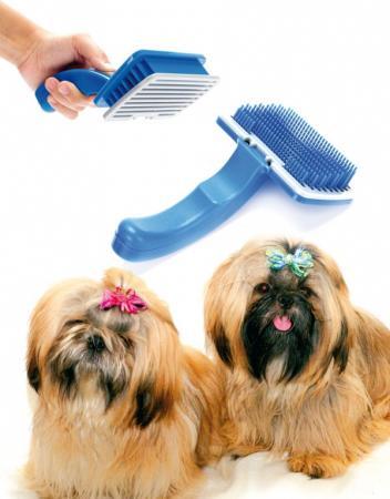 Щетка самоочищающаяся для животных TD 0349 золюкс щетка пуходерка самоочищающаяся м 481111