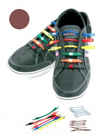 Шнурки силиконовые коричневые TD 0397 шнурки famaco