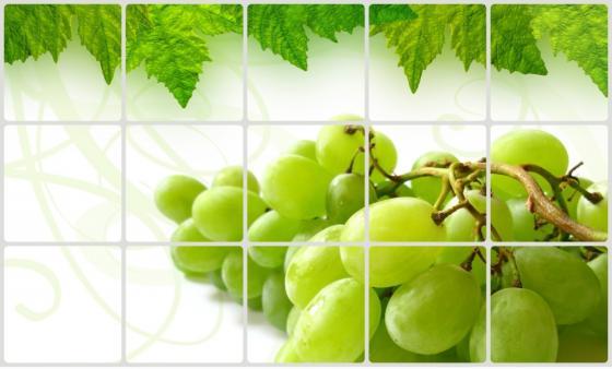 Экран защитный кухонный «ВИНОГРАДНАЯ ГРОЗДЬ» TK 0209 экран защитный кухонный фрукты