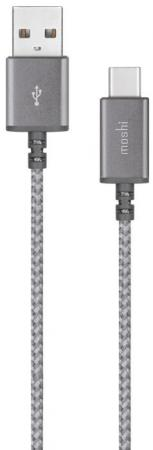 Фото - Кабель Type-C 1.2м Moshi Integra круглый серый 99MO084211 moshi usb c digital audio adapter with charging серебристый