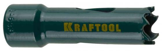 Коронка биметаллическая KRAFTOOL 29521-038 EXPERT прогрессивное расположение зубьев d 38мм коронка kraftool 29200 80