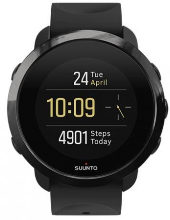 Смарт-часы SUUNTO WATCH ALL BLACK черный силиконовый ремешок черный кант SS050020000