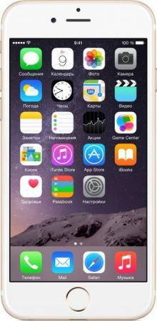 Смартфон Apple iPhone 6 золотистый 4.7 32 Гб NFC LTE Wi-Fi GPS 3G MQ3E2RU/A смартфон sony xperia xa1 dual черный 5 32 гб nfc lte wi fi gps 3g g3112blk