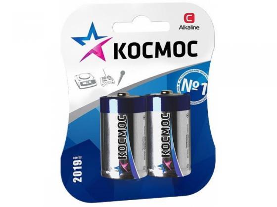 Батарейка КОСМОС LR14 2хBL батарейка космос koclr03 24box