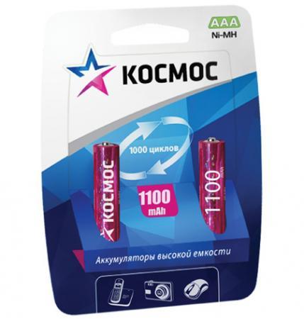 Аккумулятор КОСМОС KOCR03NIMH(1100MAH) R03 NiMn 1100мАч (блист.2шт.) аккумулятор aaa rexant 1 2v 1100mah 2шт 30 1411