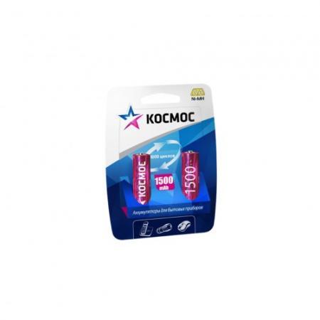 Аккумулятор КОСМОС KOCR6NIMH(1500mA) R6 NiMn 1500мАч BP-2 (блист.2шт.)