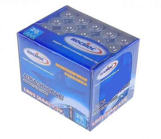 Батарейка КОСМОС KOCLR0320BOX LR LR03 (уп.20шт.) батарейки космос aaa 20шт lr lr03 koclr0320box