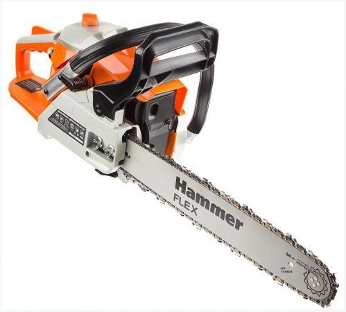 Бензопила Hammer Flex BPL3816B 1.47кВт, 38см3, шина 16 цепь 3/8-1.3мм-56 бензопила efco 141s 41 1 5квт 2 5лс 39см3 шина 16 цепь 3 8 1 3мм 4 2кг