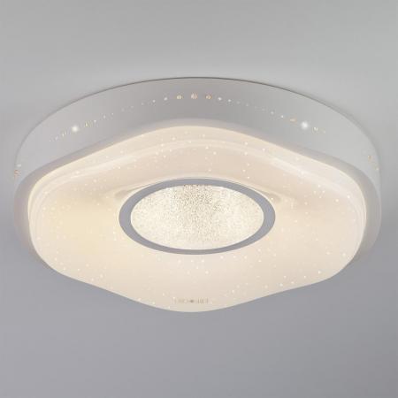Потолочный светодиодный светильник с пультом ДУ Eurosvet Shine 40011/1 LED белый потолочный светильник евросвет модерн 40011 1 led