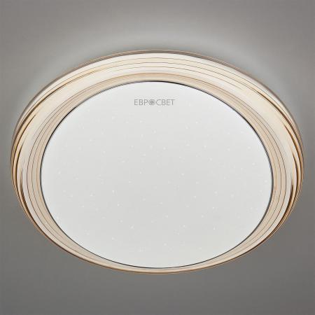 Потолочный светодиодный светильник с пультом ДУ Eurosvet Universal 40007/1 LED кофе