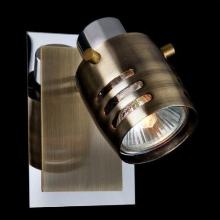 Спот Eurosvet 23463/1 хром/античная бронза спот eurosvet 23463 4 хром античная бронза